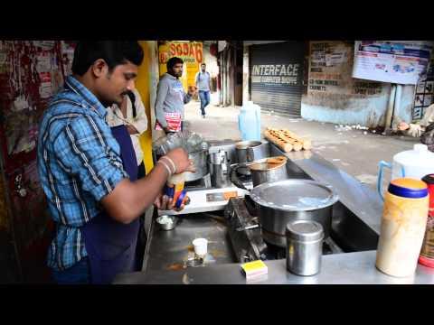 Indian roadside tea making