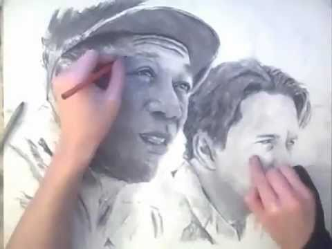 CRAZY! TWO HANDED DRAWING practice run - TheportraitArt
