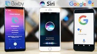Siri (iOS 11) vs Bixby (Note 8) vs Google Assistant (Oreo)