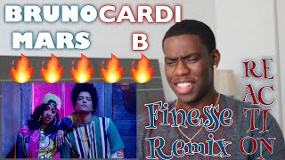 Download Lagu Bruno Mars - Finesse (Remix) [Feat. Cardi B] [Official Video] | Reaction Gratis STAFABAND