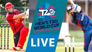LIVE CRICKET - ICC Men's T20 World Cup Europe Final 2019 - Jersey vs Norway. Starts 15.45 BST