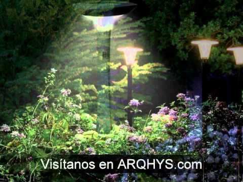 Como iluminar un jardin youtube for Iluminacion led para jardines