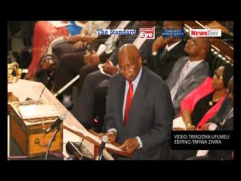 Video: Zimbabwe Finance minister present 2016 National Budget.