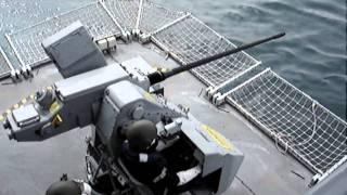 Canhão Naval RFA Wave Knight calibre 30mm - Exercício de tiro