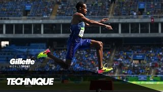 Triple Jump Technique with Olympic Champion Christian Taylor | Gillette World Sport