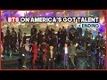 180911 BTS Live Performance on America's Got Talent Ending #BTSonAGT