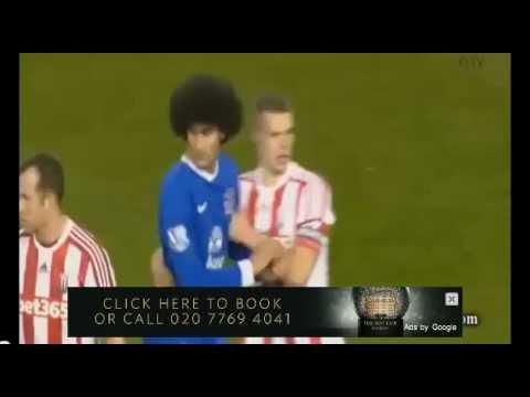 Maroune Fellani vs Ryan Shawcross Headbut - (Everton vs Stoke) 15/12/12
