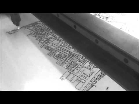 Laser Cut Toronto Map by Cut Maps