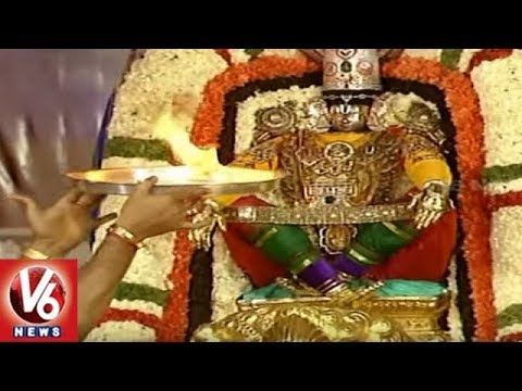 Srivari Brahmotsavam 2018 3rd Day | Simha Vahana Seva | V6 News
