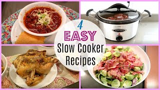 4 EASY SLOW COOKER DINNERS / COOK WITH ME