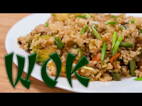 Вок с рыбой и рисом. Очередной домашний фаст-фуд.