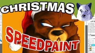 FNAF Christmas Speedpaint - Freddy