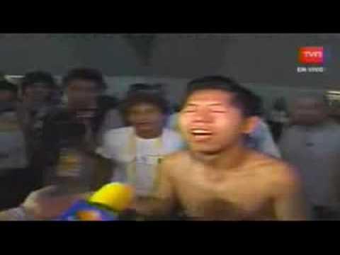 Chino llorando por Fernando Gonzalez!!!