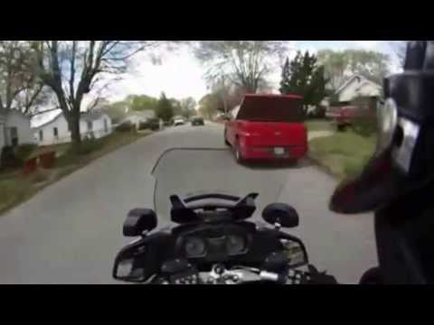 Helmet Cam Chase on Video: Action view of high speed chase from police motorcycle helmet cam