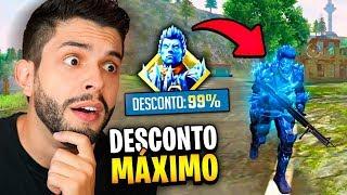 TIVE A MAIOR SORTE E GANHEI A NOVA SKIN DO HOMEM DE GELO COM DESCONTO MÁXIMO!!! FREE FIRE