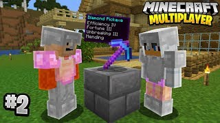 THE LUCKIEST ENCHANTMENT in Minecraft Multiplayer Survival! (Episode 2)
