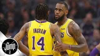 LeBron James and Brandon Ingram don't play well together, stats show | The Jump