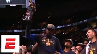 [FULL] Kevin Durant's 2018 NBA Finals MVP acceptance speech | ESPN