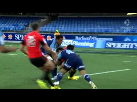 Blues v Crusaders big hits
