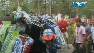 Crash Hirvonen WRC Finland Day 1