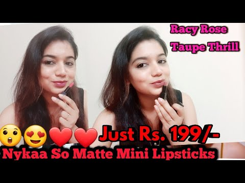 Nykaa So Matte Mini Lipsticks