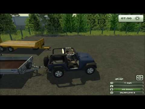 Mod for Farming Simulator 2013 Jeep Wrangler v 1 0 REVIEW