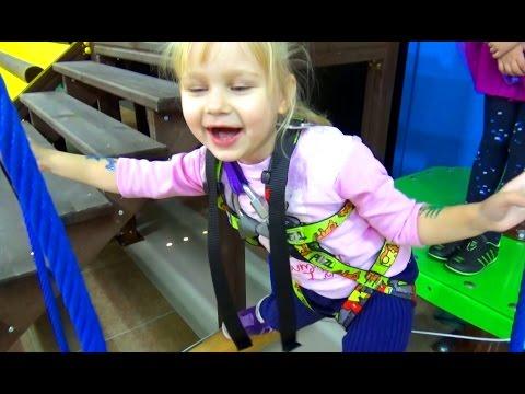 Алиса умеет ХРЮКАТЬ!!! Тарзанка развлечение для детей в развлекательном центре