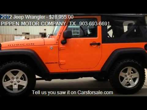 2012 Jeep Wrangler Rubicon for sale in Carthage, TX 75633 at