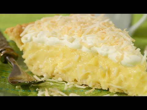 Coconut Cream Pie Recipe Demonstration - Joyofbaking.com