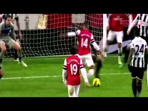Theo Walcott's All 21 Goals and 14 Assists for Arsenal in 2012/13 season
