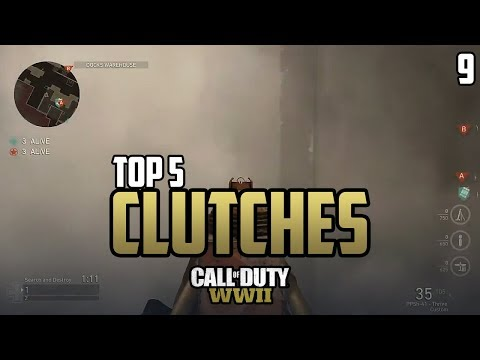 COD WWII: TOP 5 CLUTCHES OF THE WEEK #9 - Call of Duty World War 2