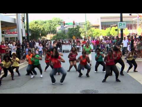 African Contemporary Dance Flash Mob - Downtown Silver Spring, MD