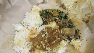 Jakarta Street food 393 Nasi Rames Bungkus  Rendang Padang Pondok Duo BR TiVi 2444