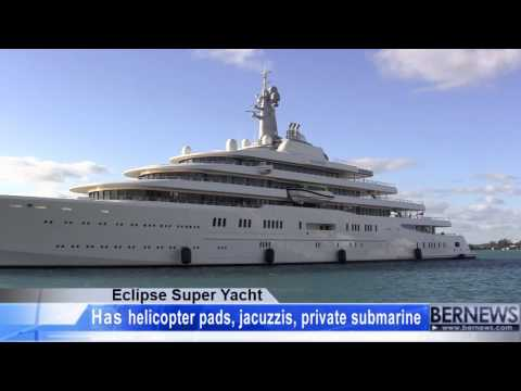 Eclipse Super Yacht Arrives In Bermuda Jan 29 2013