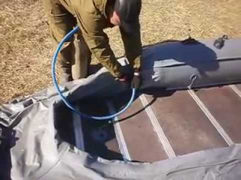 накачка лодки пвх автокомпрессором
