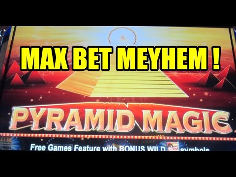 Aristocrat - Pyramid Magic - Max Bet!  100x win!