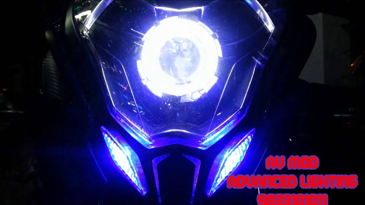 Pulsar Ns 200 Projector Headlight By Vishal Youtube