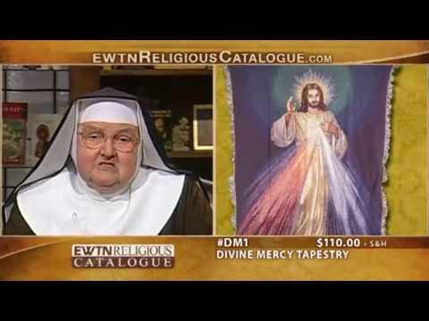 Ewtn Religious Catalogue- Divine Mercy Tapestry & Divine Mercy Stained Glass 4 21 14 video