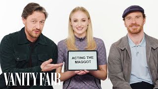 Download Song Sophie Turner, James McAvoy and Michael Fassbender Teach You English, Scottish and Irish Slang Free StafaMp3