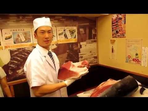 AMAZING TUNA CUTTING IN TOKYO SUSHI RESTAURANT
