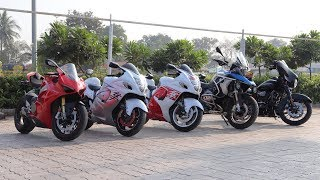 Sunday Ride With Super Bikes | My Hayabusa Reached 200+ Speed !! Amazing Experience