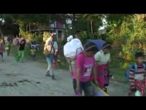 Kachin IDP from Garayang fleeing Burma Army