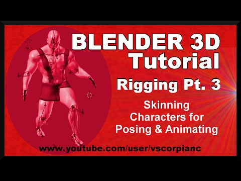 Blender 3d tutorial rigging pt 3 skinning characters for Skin it fish skinner