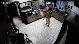 HOUSE INVASION CAUGHT ON CCTV * 3 AM * !!!