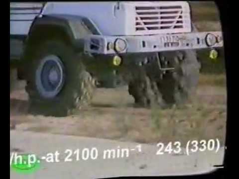 PLATFORM TRUCK KrAZ-6322 AND KrAZ-6333РЕ.wmv