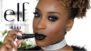 E.L.F. Full Face Glam Makeup Look