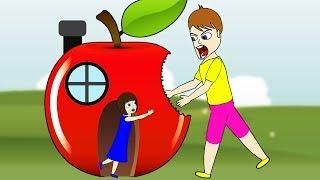 ELSA's Mega People Apple Finger Family Song Nursery Rhymes