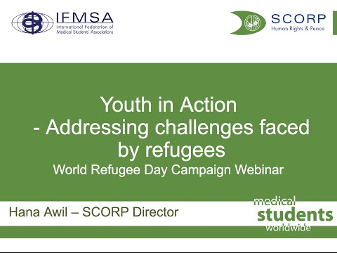 World Refugee Day Campaign Webinar  - Youth in Action   addressing challenges faced by refugees