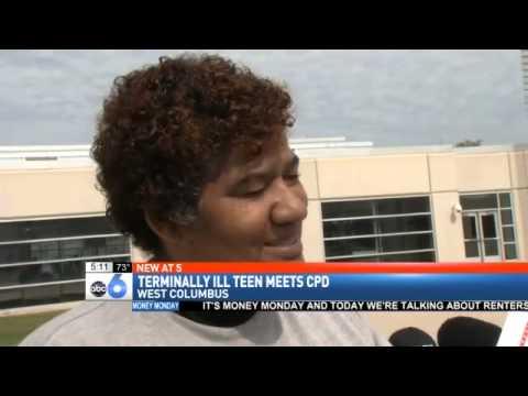 Columbus police make terminally ill teen 'cop for a day'