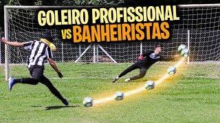 GOLEIRO PROFISSIONAL vs BANHEIRISTAS *Nunca vi tao bom! - DESAFIO DE PÊNALTIS